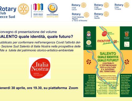 """presentazione del volume """"SALENTO, quale identità quale futuro? – Italia Nosta Sud Salento"""